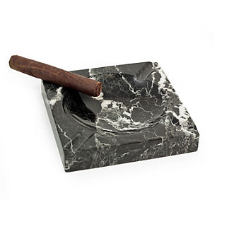 Black Marble Four-cigar Ashtray