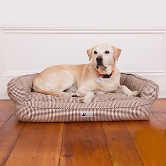 Houndstooth Memory Foam Bolster Pet Bed