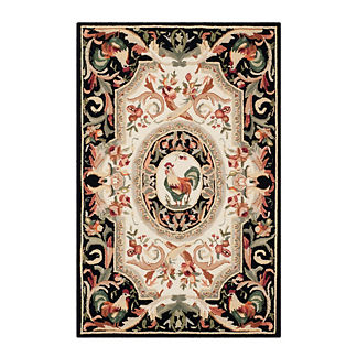 Rooster Hand-Hooked Wool Rug