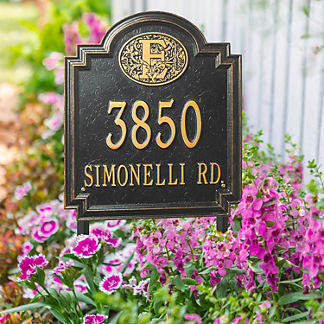 Designer Square Lawn Address Plaque