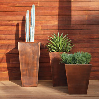 Tapered Copper Planter