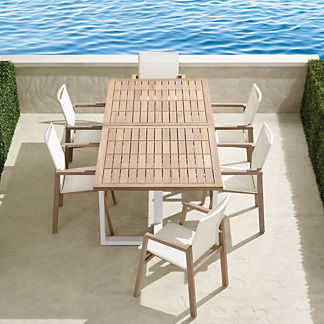 Resort Newport 7-piece Dining Set in Weathered Teak