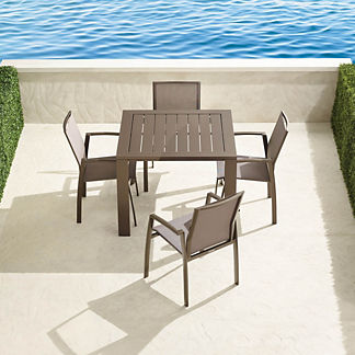 Resort Newport 5-pc. Square Dining Set in Aluminum