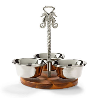 Ocean Luxe Seahorse Condiment Serving Set