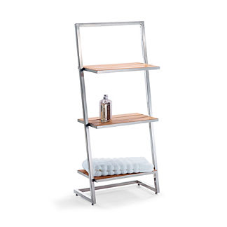 Marais Teak/Stainless 3-Tier Shelf