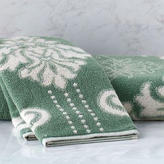 Blythe Two-tone Damask Hand Towel