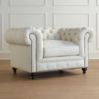 Barrow Chesterfield Chair, Special Order