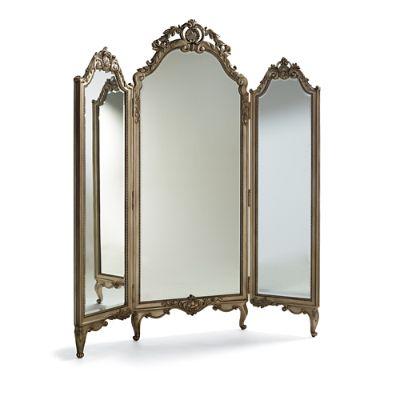 Elle Trifold Floor Mirror   Frontgate
