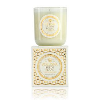 Voluspa Classic Suede Blanc Masion Candle