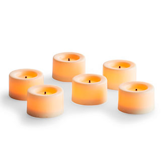 Flameless Tea Lights, Set of Nine