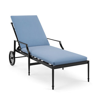 Knife-edge Outdoor Chaise Cushion