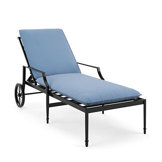 Single-Piped Outdoor Chaise Cushion