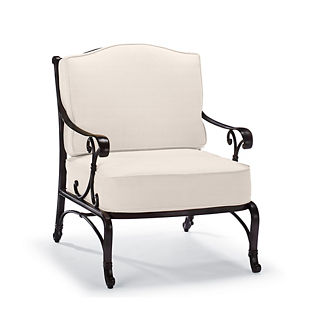 Orleans Lounge Chair with Cushions in Chocolate Finish