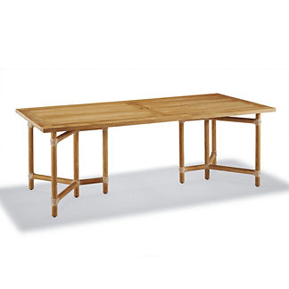 Rattan Outdoor Furniture. Sanibel Teak Rectangular Dining Table