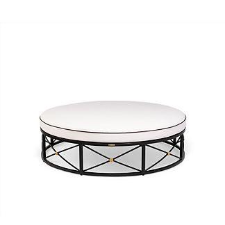 Roma Round Ottoman with Cushion