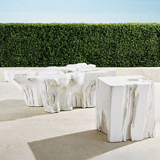 Root Tables in White Finish