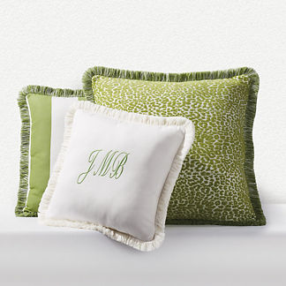 Outdoor Square Pillow with Fringe