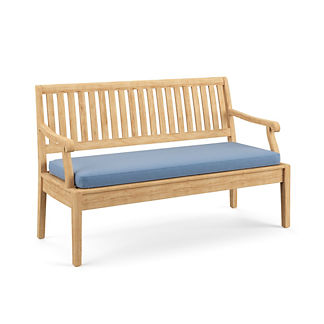 Double-Piped Bench Cushion, Special Order