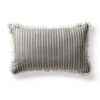 Fairway Stripe Slate Outdoor Lumbar Pillow