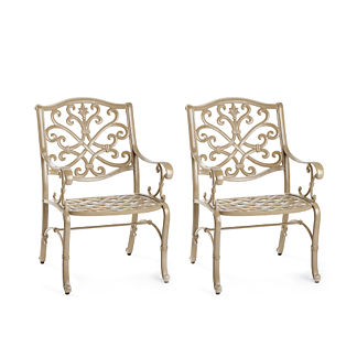 Set of Two Orleans Dining Arm Chairs in Biscayne Finish