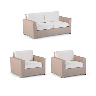 Palermo 3-pc. Loveseat Set in Linen Finish