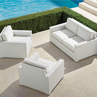 Palermo 3-pc. Loveseat Set in White Finish