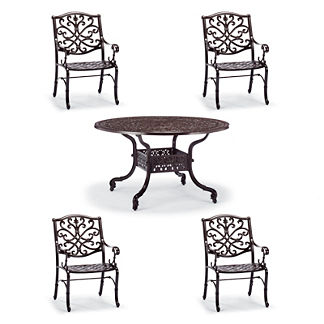 Orleans 5-pc. Round Dining Set in Chocolate Finish