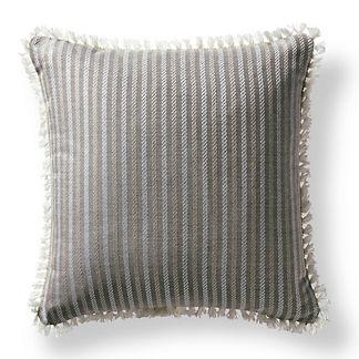 Fairway Stripe Slate Outdoor Pillow