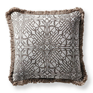 Orsini Gate Slate Outdoor Pillow