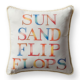 Sun and Sand Natural Outdoor Pillow