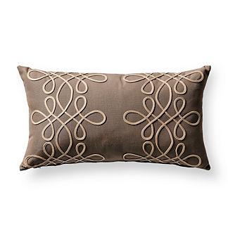 Spiral Glam Sand Outdoor Lumbar Pillow