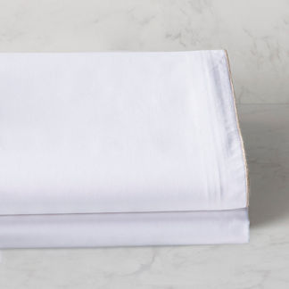 Piped Percale Duvet Cover