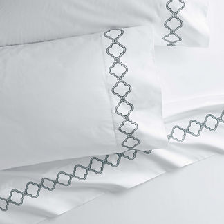 Quatrefoil Pillowcases, Set of Two
