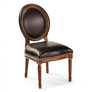 Langston Round Back Side Chair in Walnut Finish