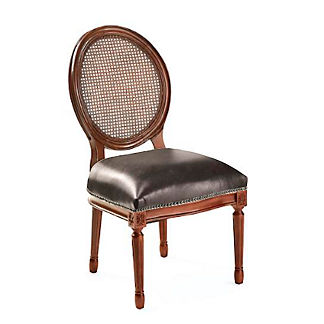 Ludlow Round Back Side Chair in Walnut Finish