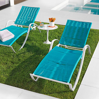 Streamline Strap Chaise Lounges by Porta Forma, Set of Two