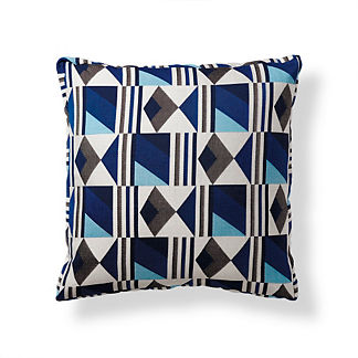 Amalfi Tile Cobalt Modern Boxed Pillow