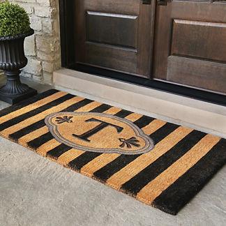 Ameile Cabana Stripe Monogrammed Coco Door Mat