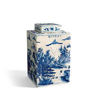 Rectangular Chinoiserie Jar