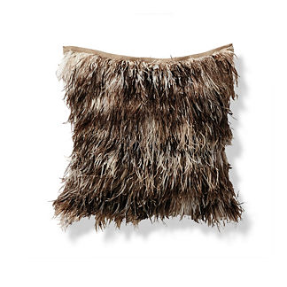 Ostrich Feather Outdoor Pillow by Porta Forma
