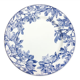 Blue Arbor Charger Plate
