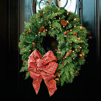 Winter Pine 30-in. Cordless Wreath