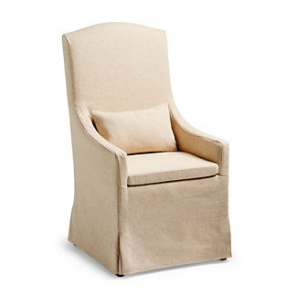 Avalon Slipcovered Dining Host Chair