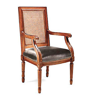 Ludlow Square Back Arm Chair in Walnut Finish