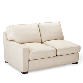 Sawyer Linen One Arm Loveseat