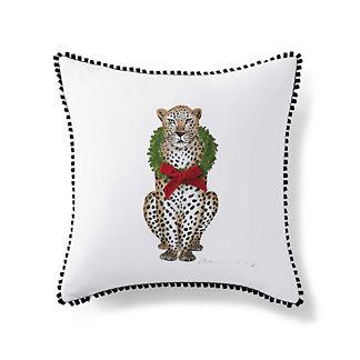 Festive Lennox Leopard Throw Pillow