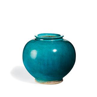 Turquoise Decorative Pot