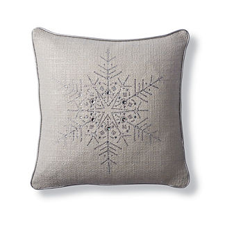 Shimmer Crystal Snowflake Pillow