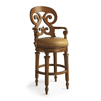 Brianna Swivel Bar Height Bar Stool