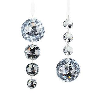 Donatella Plated Crystalline Drops, Set of 12
